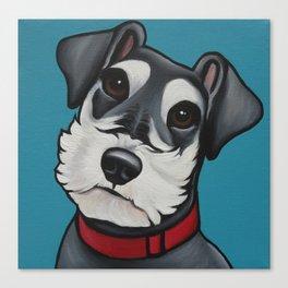 Schnauzer Pet Portrait  Canvas Print