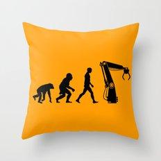 Replaced  |  Human Evolution Throw Pillow