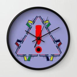 Guns - A Warning Sign Wall Clock