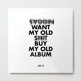 Jay Z edited  Metal Print