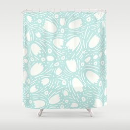Floral Reverie in Seafoam Shower Curtain