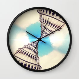 Double Leaning Towers Wall Clock