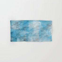 Abstract blue pattern 3 Hand & Bath Towel