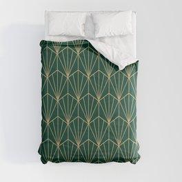 Art Deco Vector in Green and Gold Comforters