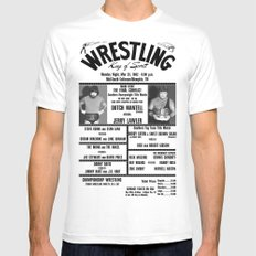 #16 Memphis Wrestling Window Card Mens Fitted Tee White SMALL