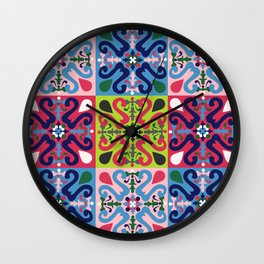 Colonial tiled pattern Wall Clock