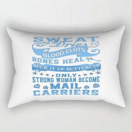 Mail Carrier Woman Rectangular Pillow