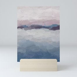 Plum Purple Lavender Blue Abstract Painting Ocean Waves Cloud Horizon, Modern Wall Art, Digital Mini Art Print