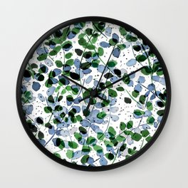 Synergy Blue and Green Wall Clock