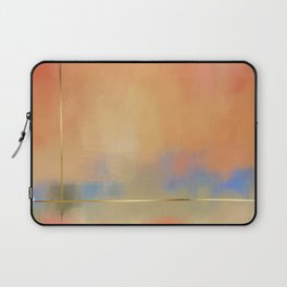 Abstract Landscape With Golden Lines Painting Laptop Sleeve