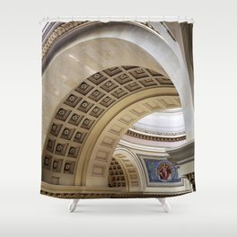 Wisconsin Capitol Building Arches And Angles Shower Curtain