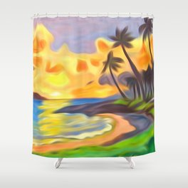 Trade Wind Island Shower Curtain