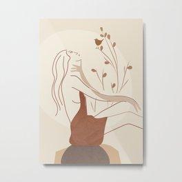 Abstract Woman Metal Print