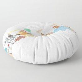 little safari parade Floor Pillow