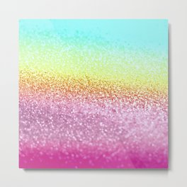UNICORN GLITTER Metal Print