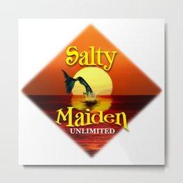 Mermaid -Salty Maiden Square Metal Print