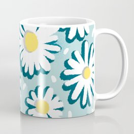 Too happy - Soft Blue Coffee Mug