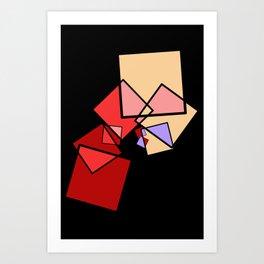 moving squares -13b- Art Print