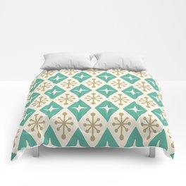 Mid Century Modern Atomic Triangle Pattern 105 Comforters