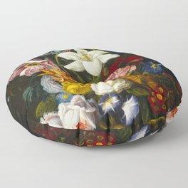Victorian Bouquet by Severin Roesen Floor Pillow