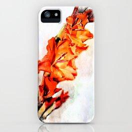 gladioli Artsy iPhone Case