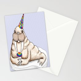 I am the walrus...with a party hat and snow cone...goo goo g' joob! Stationery Cards