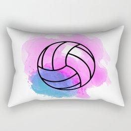 Volleyball Watercolor Rectangular Pillow