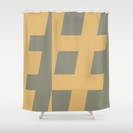 Hash Tag 2 Shower Curtain