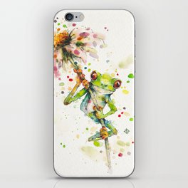 Hello There Bright Eyes (Green Tree Frog) iPhone Skin
