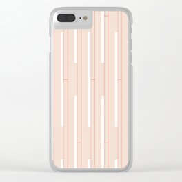 Minimal Stripes #home #society6 #decor #art #style #cool #minimalism #pattern Clear iPhone Case