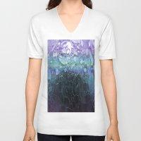 bubbles V-neck T-shirts featuring Bubbles by Lynn Bolt