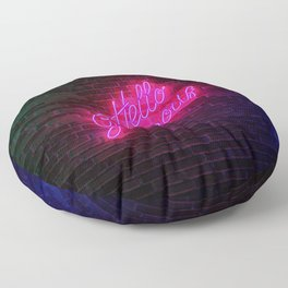 Hello Gorgeous - Neon Sign Floor Pillow