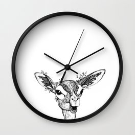 Gerenuk - long-necked antelope Wall Clock