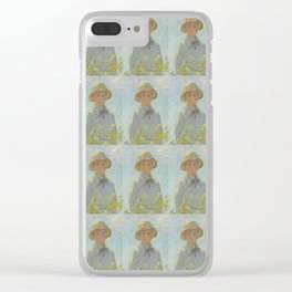 Monet- extract from Woman with a Parasol or the stroll, nature,Claude Monet,impressionist Clear iPhone Case