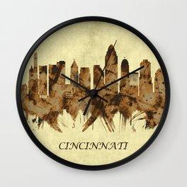 Cincinnati Ohio Cityscape Wall Clock