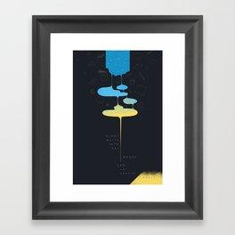 End/Begin Framed Art Print