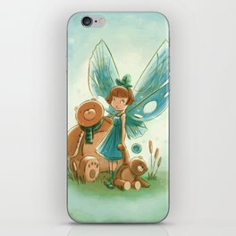 Goblins Drool, Fairies Rule! - Baby Blue iPhone Skin