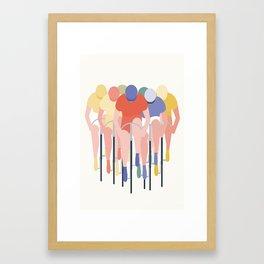 CYKELLØB Framed Art Print