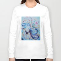 magnolia Long Sleeve T-shirts featuring Magnolia by Maria Lozano - Art