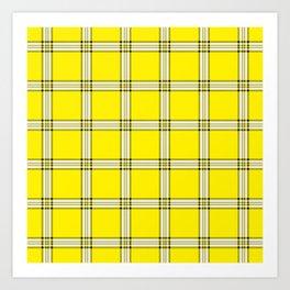 Yellow plaid Art Print