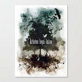 arbores loqui latine Canvas Print