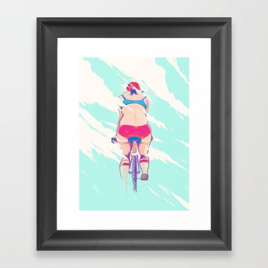 Ride In The Fog Framed Art Print