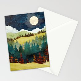 Autumn Moon Stationery Cards
