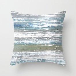 Silver striped Throw Pillow