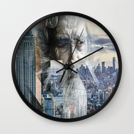 Old man in New York Wall Clock