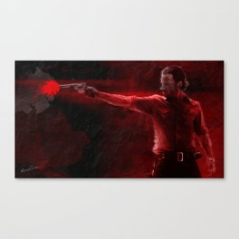 The Walking Dead Rick Grimes oil painting effect Canvas Print