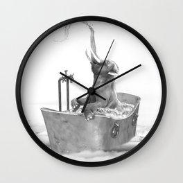 BABY ELEPHANT BATH Wall Clock
