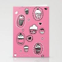 cupcakes Stationery Cards featuring Cupcakes! by Duru Eksioglu