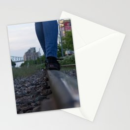 The train track-gravel equilibrium Stationery Cards