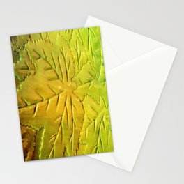Green Gloss Leafs Stationery Cards